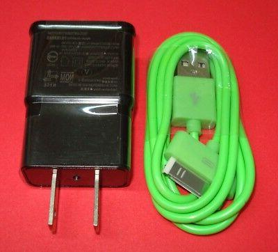 2 Piece AC Charger & Cable with 30 Pin Plug in For Apple IPA