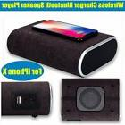 20W QI Wireless Charger Bluetooth Speaker Support AUX for iP