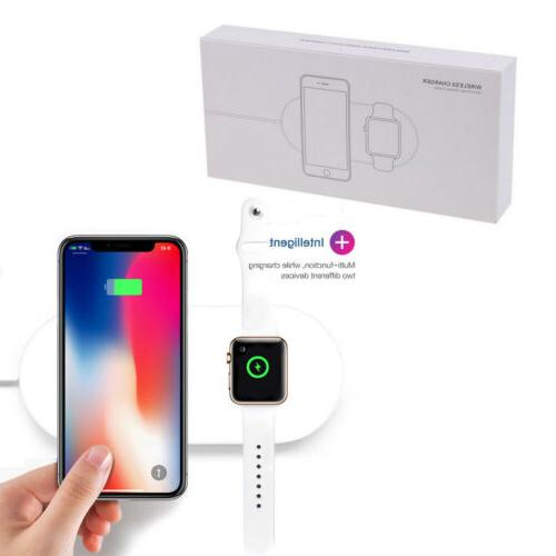 2in1 qi wireless charger pad charge station