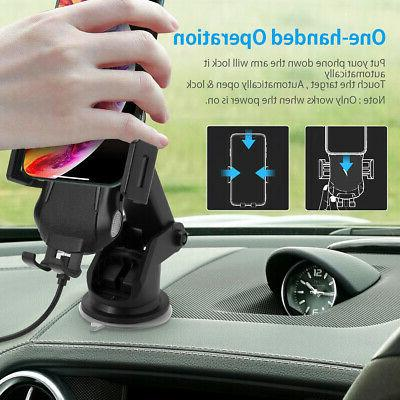 Qi Auto Charger Charging Clamping Vent Holder