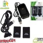 2X 4800mAh Battery & Charger Dock Charger Cable For XBOX360