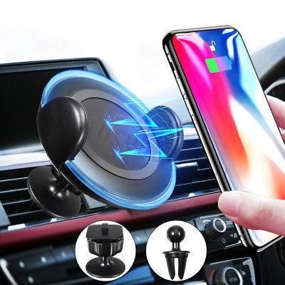 3 in 1 LED Qi Wireless Charger Car Mount Mobile Phone Holder