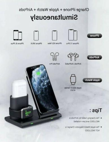 Wireless Charger Dock Station iWatch iPhone