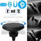 360° Rotation 2in1 Qi Wireless Charger Charging Magnetic Ca