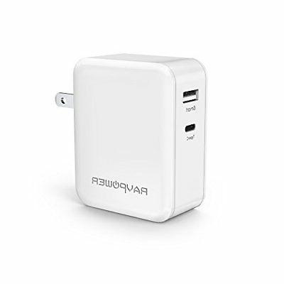 ❤ Ravpower 36W Dual Usb Wall Charger Usb C Fast Charger Wh