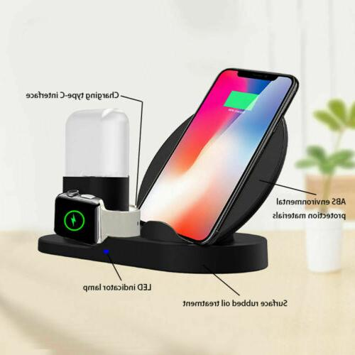3in1 Qi Wireless Charger Stand Apple X Xs