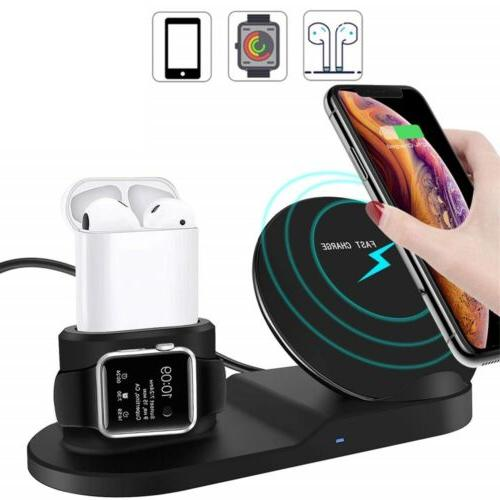 3in1 Charger Dock Stand Apple Watch iPhone X US