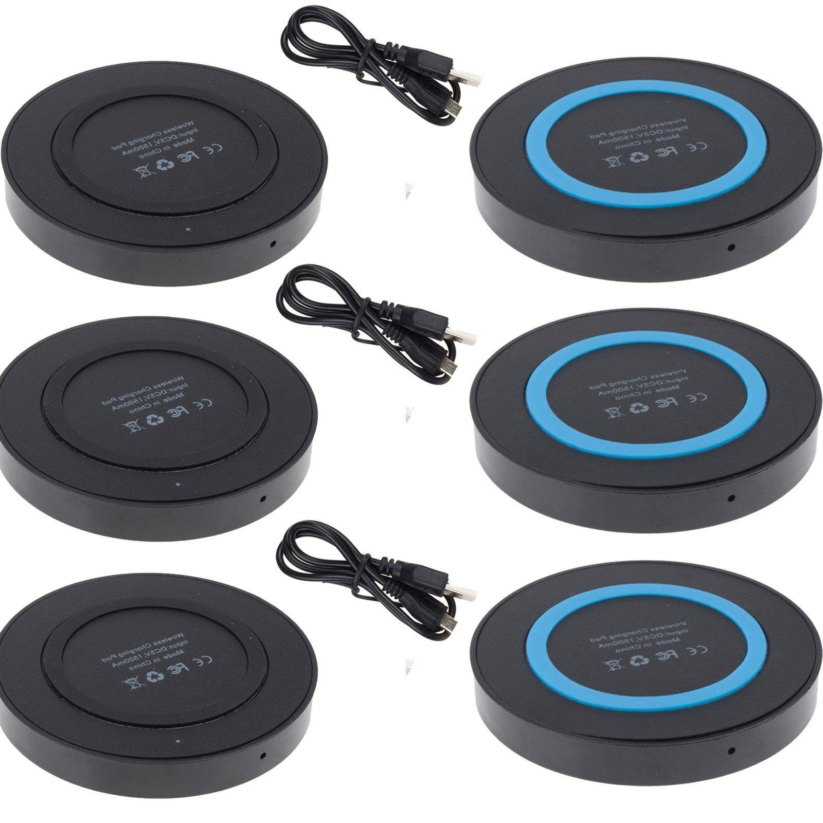 3Pack QI Wireless Charger Pad Adapter for iPhone 8 Plus  X L