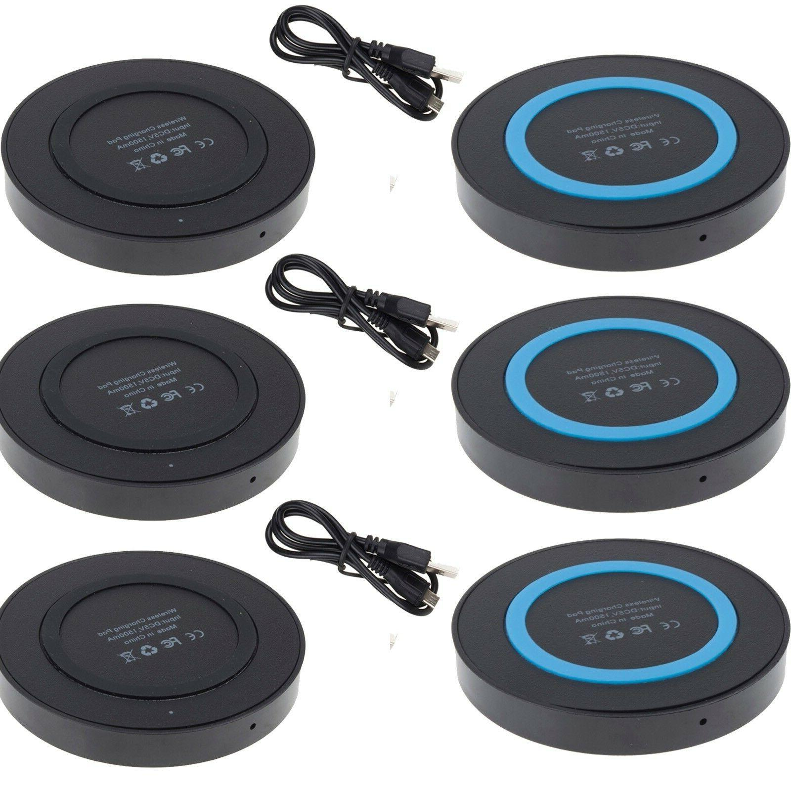 3pack qi wireless charger pad adapter