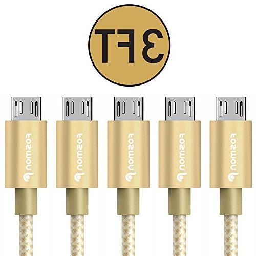 Fosmon to Charge Cable - for Samsung, Motorola, HTC, Nokia, Google Sony Xperia, Smartphones &