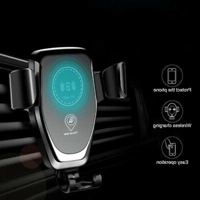 car mount qi wireless charger automatic clamping