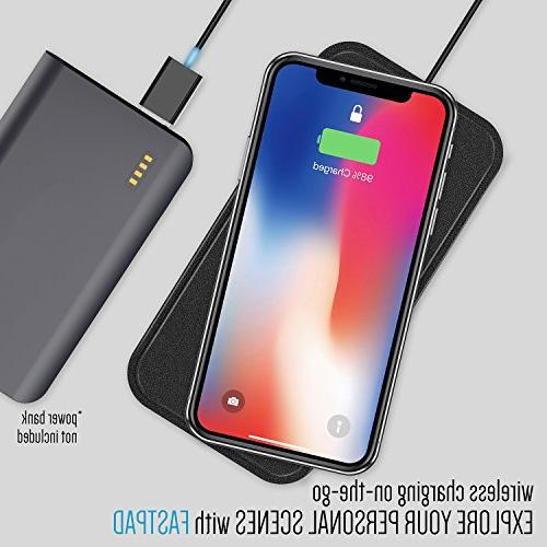 FASTPAD Ultra-Slim Charger PU Pad for iPhone XR XS MAX 8/8 Quick Heating