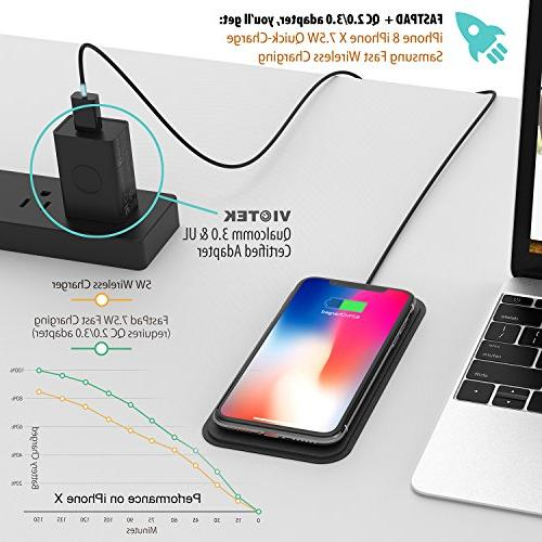 FASTPAD Ultra-Slim Wireless Pad for XR / 8/8 Charge Charging, Water Resistant, No Heating