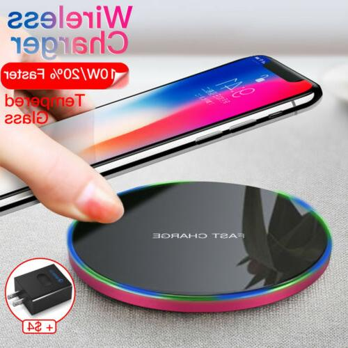 Fast Charging Qi Wireless Charger for Samsung Galaxy S9 Plus