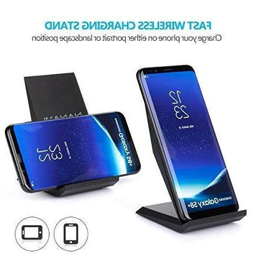 Fast Wireless Charger, Qi Charging Stand X/XS/XR/XS Samsung Note 9, Galaxy S9 S9+ S8 S8+ Note8 S7 S7 and All