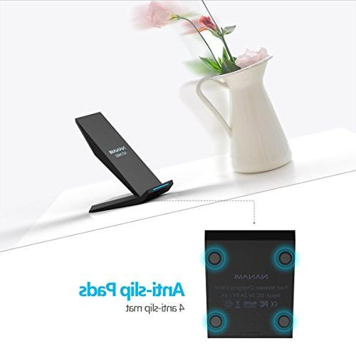Fast Wireless Charger, Qi Certified Charging X/XS/XR/XS Plus, Note 9, S9+ S7 Edge and All Device