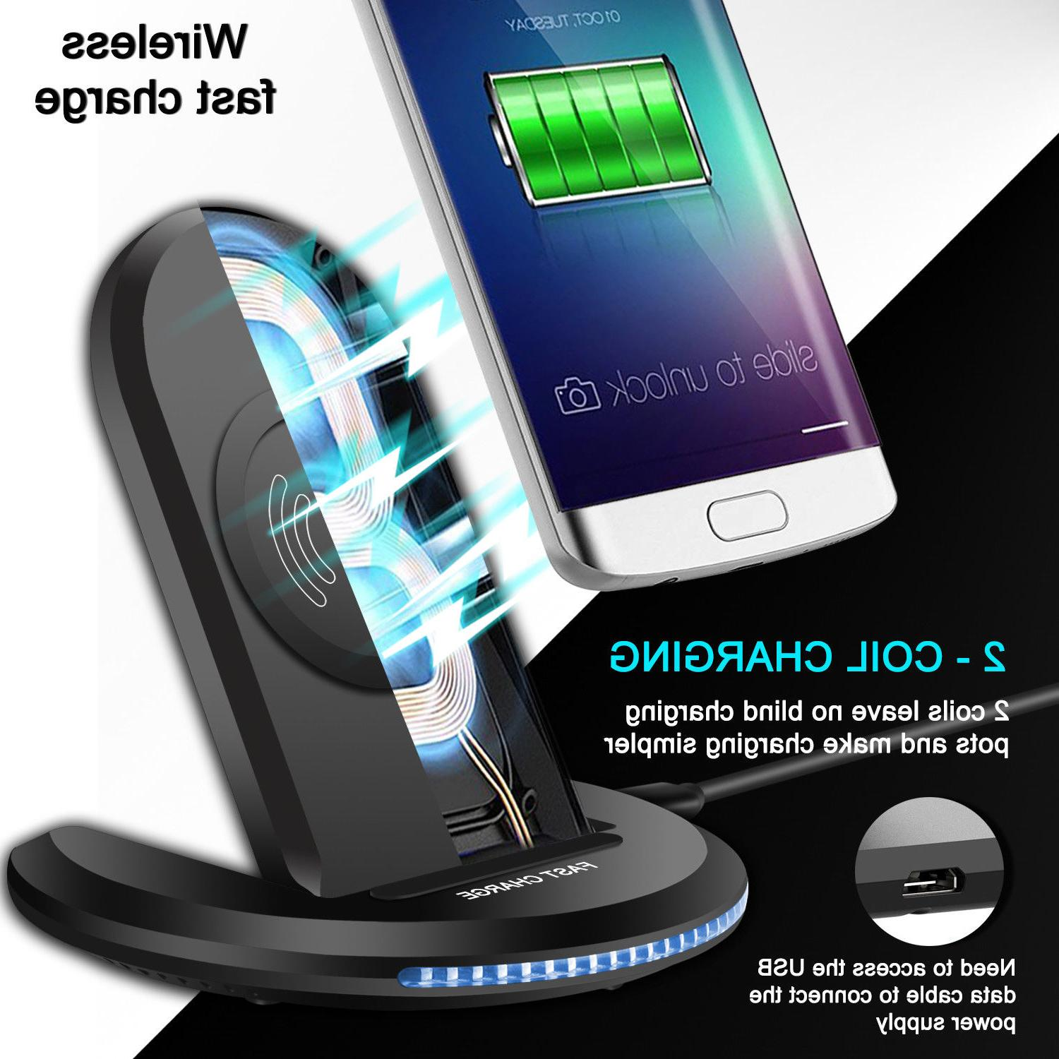 9 / Wireless Qi Fast Charger Stand Dock Pad