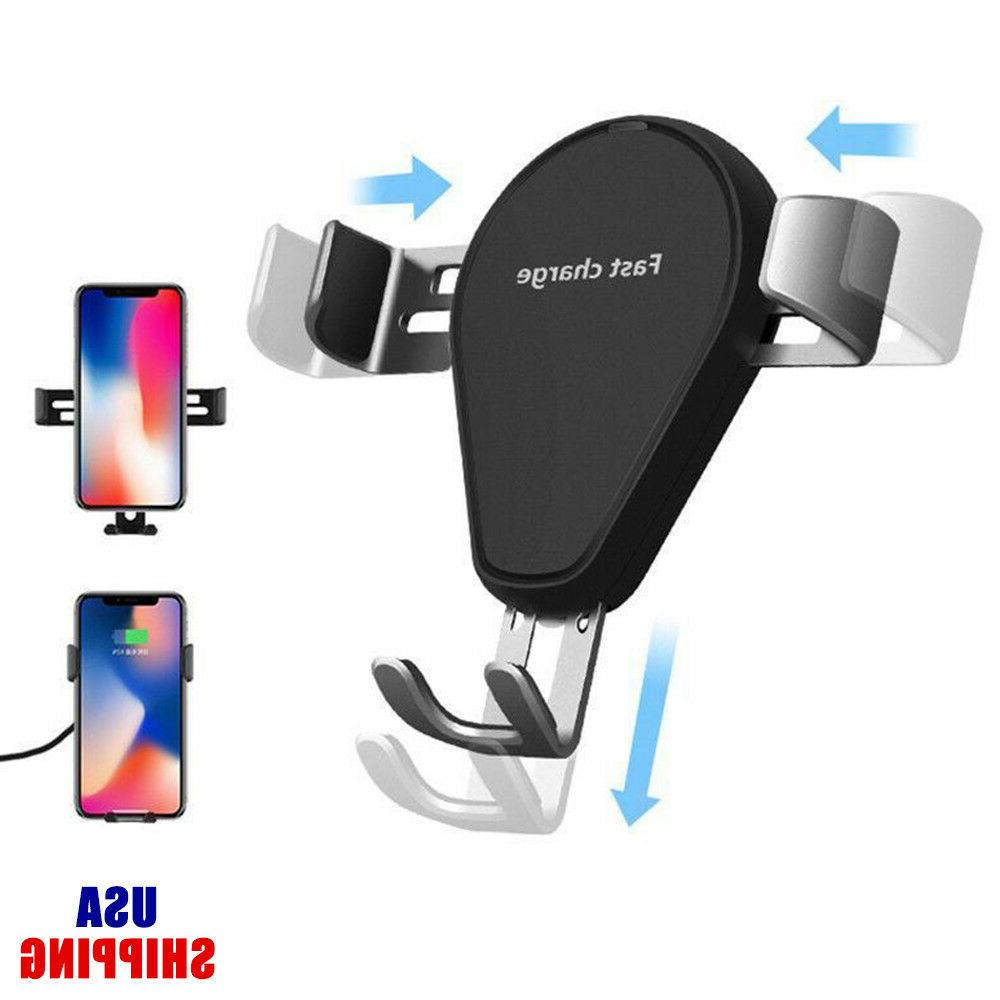Mount Qi Wireless Charger For iPhone X 8 Plus Quick Charge F