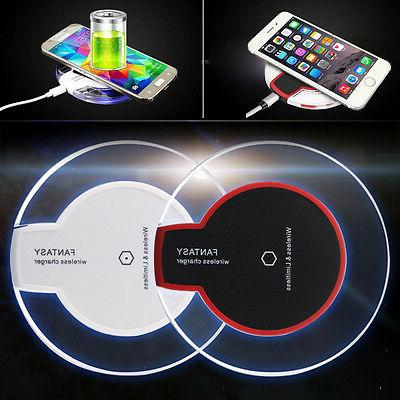 Clear Qi Wireless Charger Fast Charging Pad for Samsung Gala