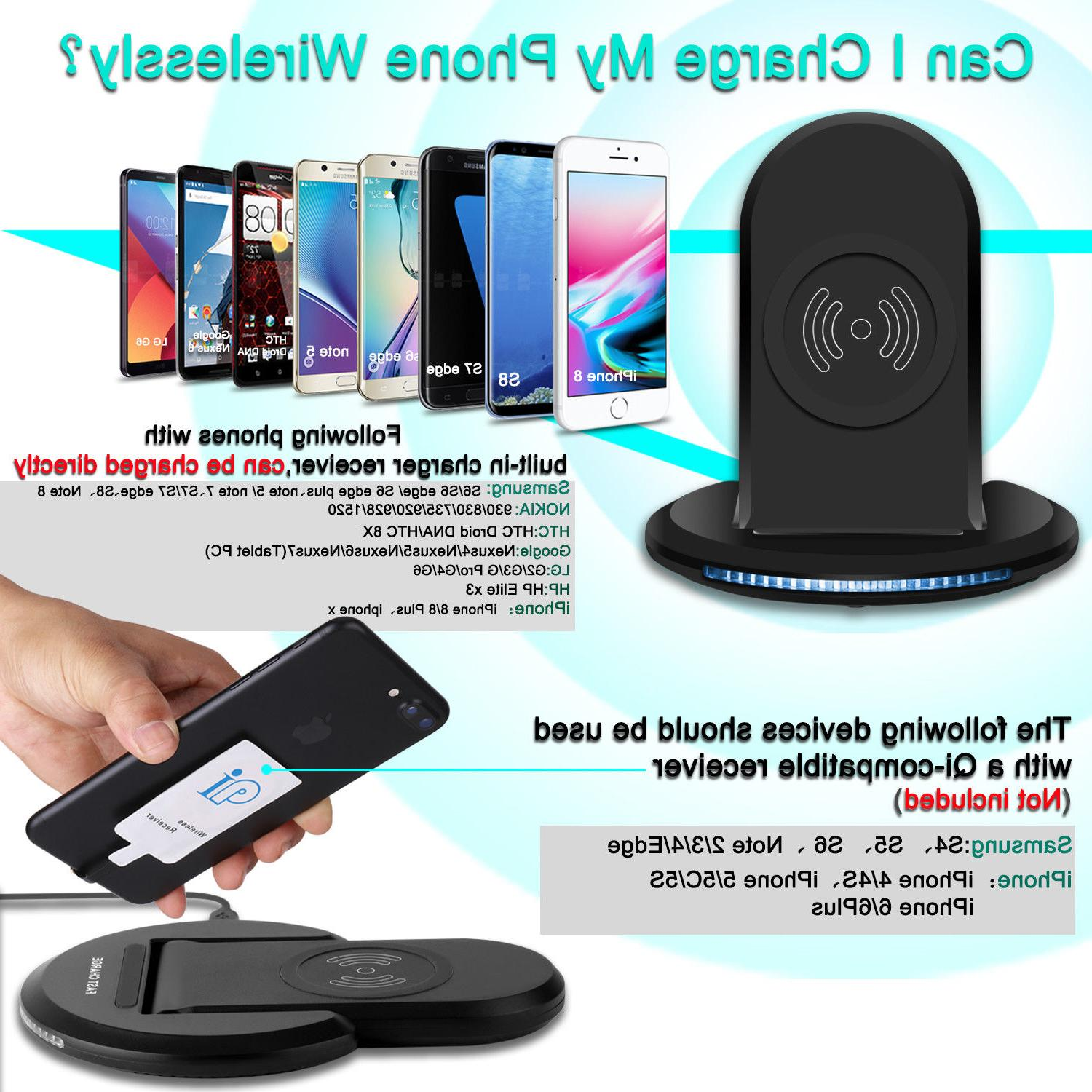 Qi Wireless Pad Case For Samsung Galaxy S20+ Ultra/S9/8/7 10+