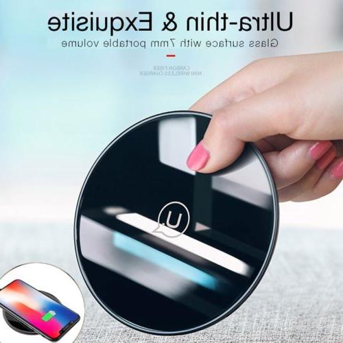 Qi Fast Wireless Charger Charging Pad For iPhone X 8 Plus &