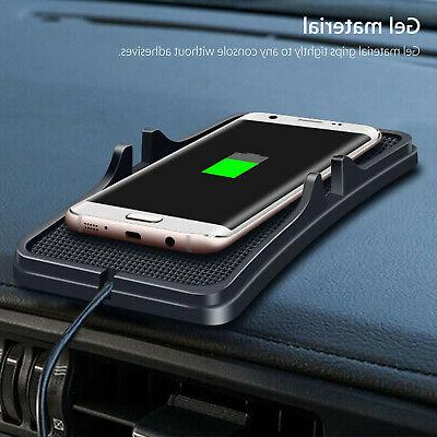 Qi Wireless Charger Car Holder Non-Slip Mat Samsung S9 S8 X