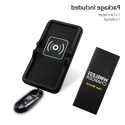 Qi Wireless Holder Mount Pad Mat For S9 S8