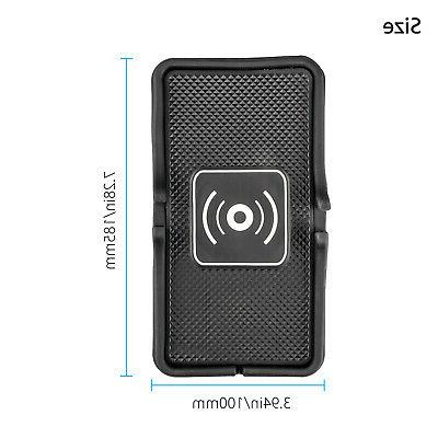 Qi Wireless Charging Pad Non-Slip For iPhone Samsung S8 S9
