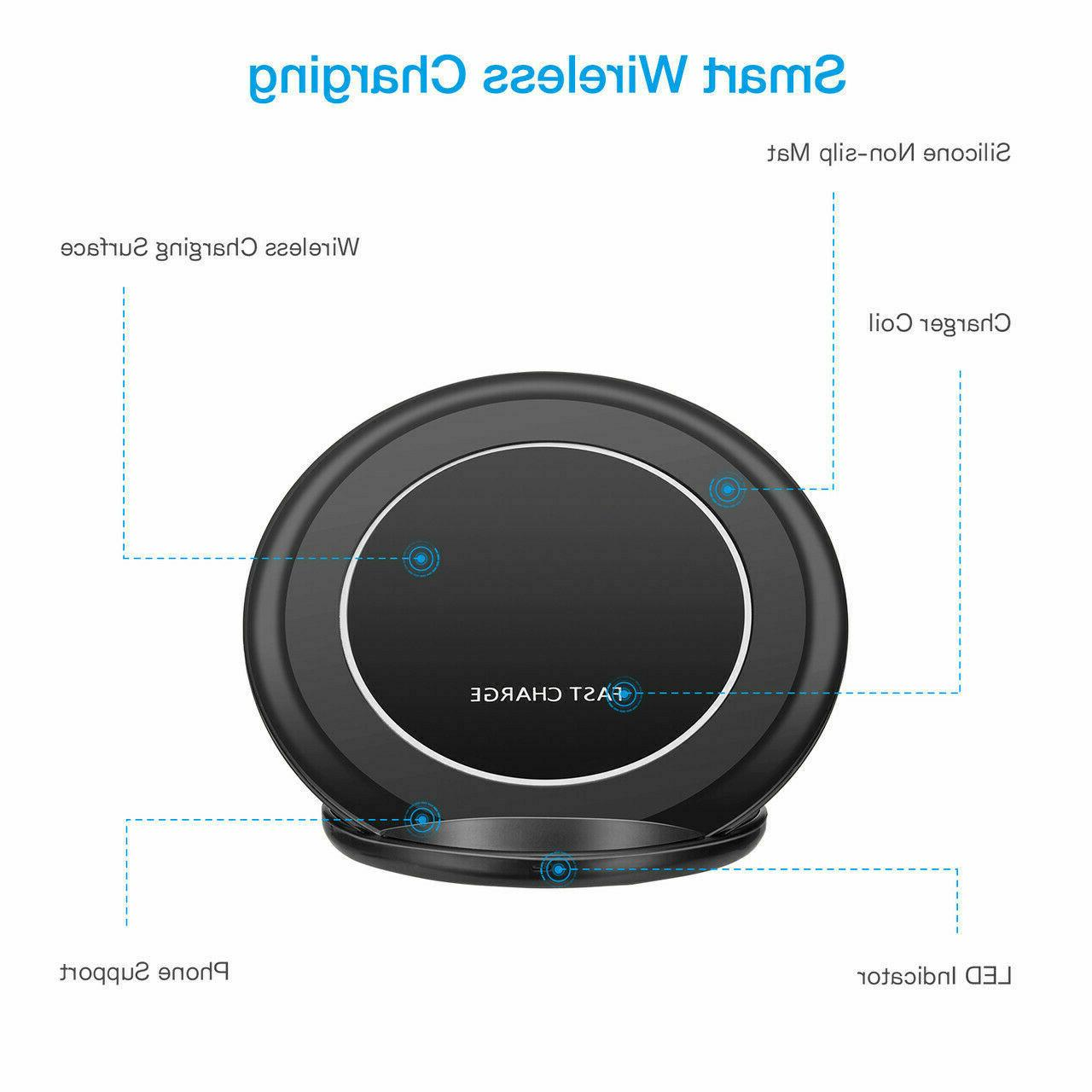 Qi Wireless Charging Pad Stand for Samsung Galaxy