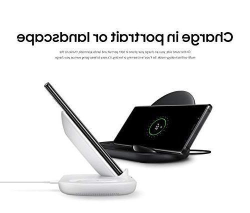 Samsung Wireless Fast Charge Stand & Pad, Universally Compatible Qi Phones and Select Samsung , Black