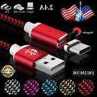 US Magnetic Micro USB Type C Lightning Fast Charger Cable Fo
