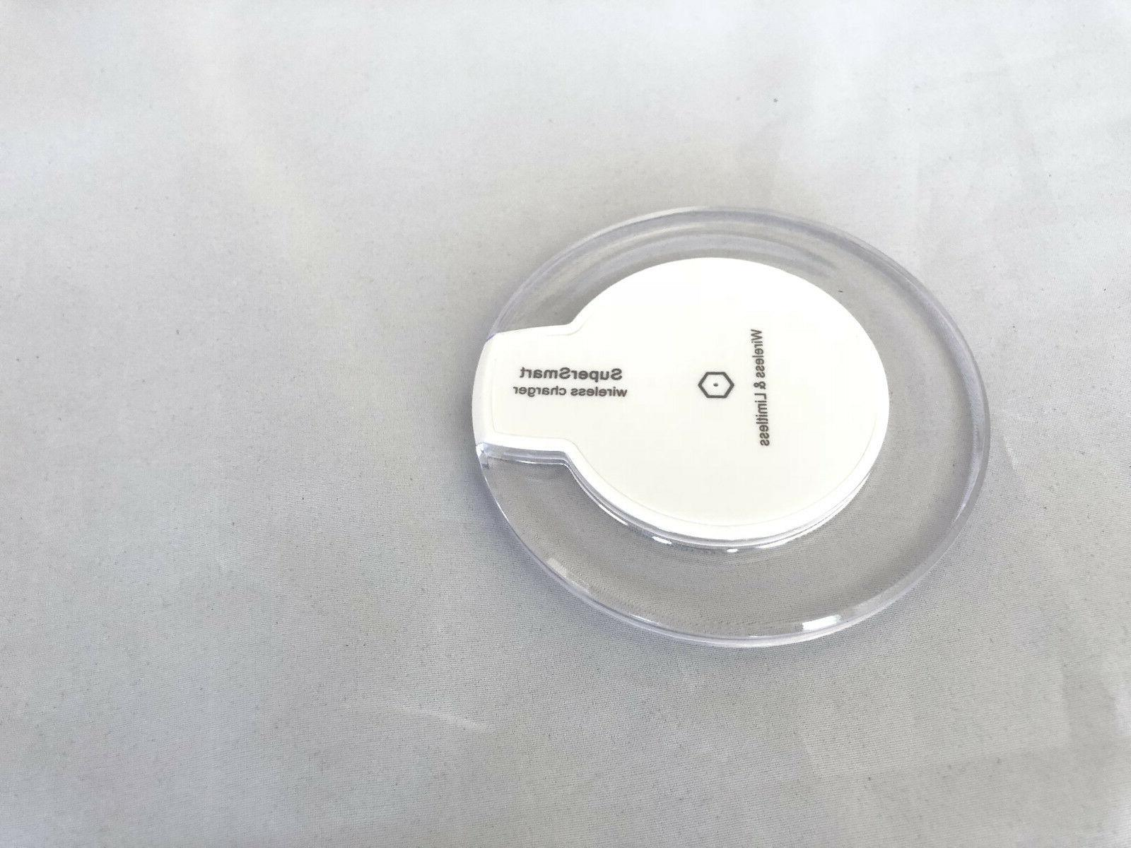 White Wireless Charger Charging Pad Mat for iPhone 8 X Andro