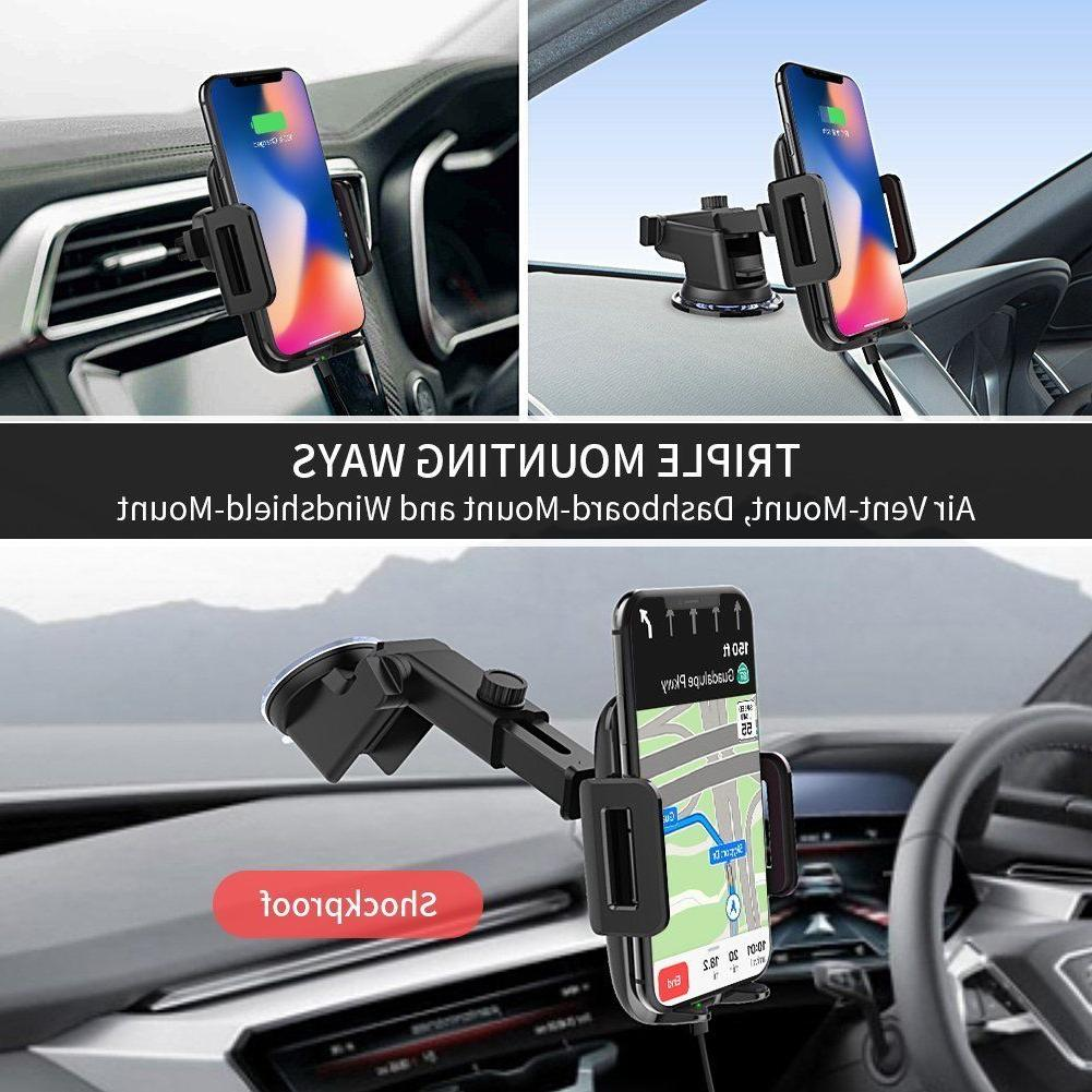 Wireless Car Charger, Adjustable Charger Mount
