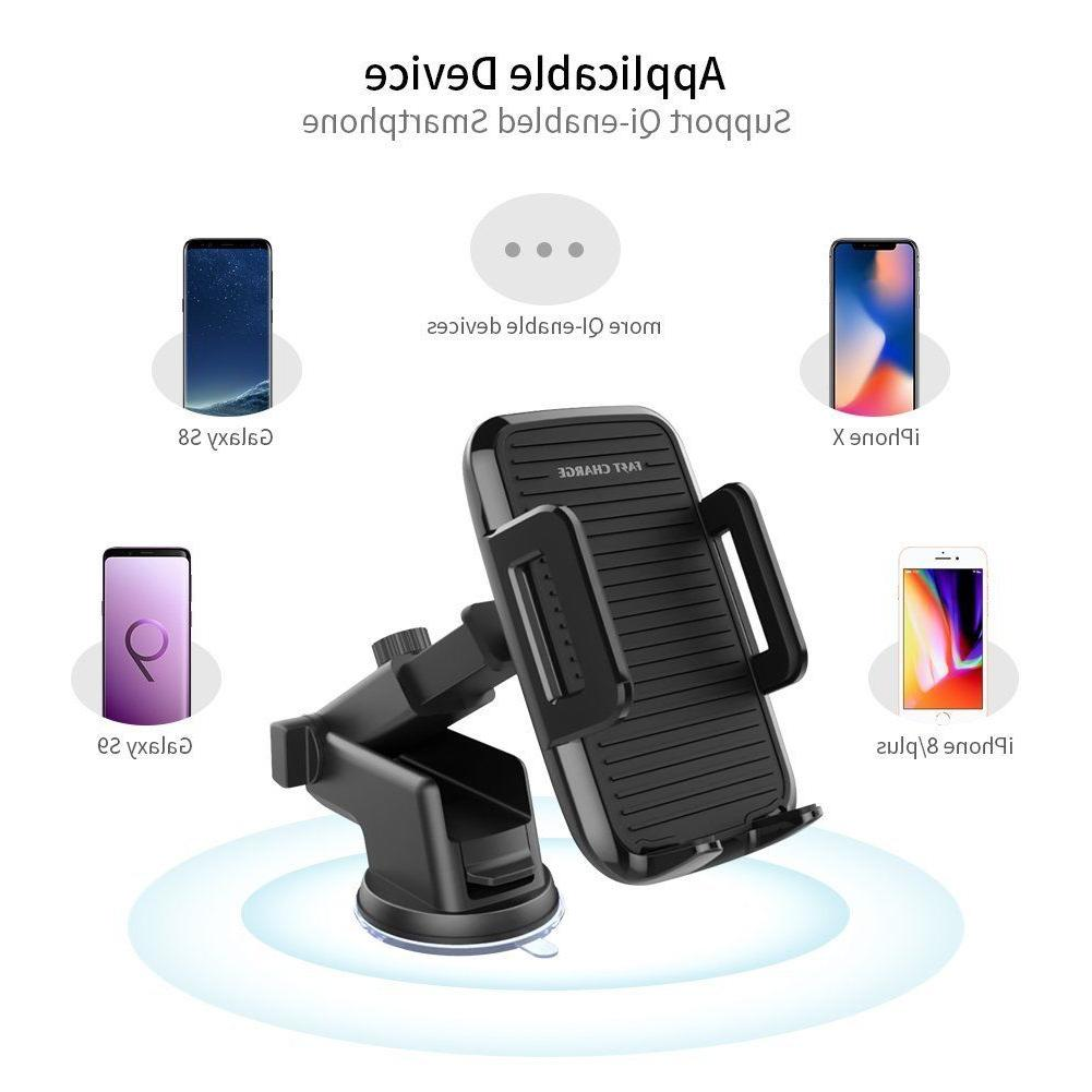 Wireless Adjustable Fast Wireless Charger Mount