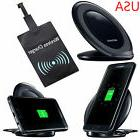 Wireless Charging Stand Qi Fast Charger Dock + Receiver For