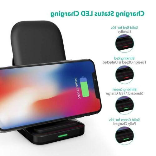 Wireless Charging Stand 2 Qi-certified Compatible XS MAX XR S9 All Devices