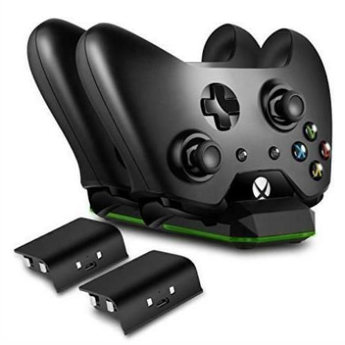 Xbox One Wireless Dual Controller Charger Dock Kit + 2 Recha
