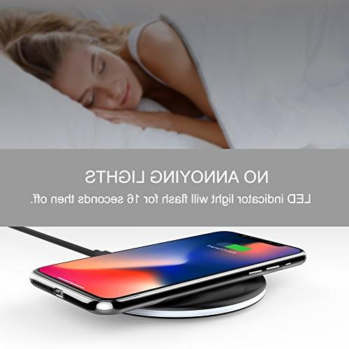 Yootech Wireless Charger 7.5W Compatible with iPhone Plus,10W 9/S9/S9 Plus/Note