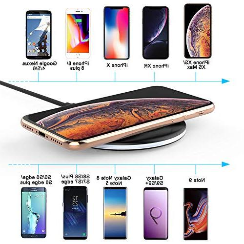 Yootech 7.5W Wireless Charging Compatible Plus,10W Galaxy 9/S9/S9 Qi-Enabled