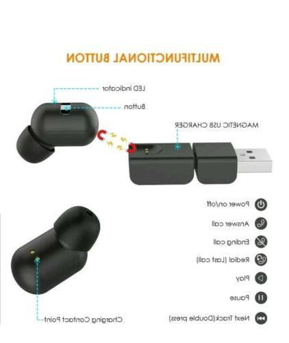 A1 Bluetooth Wireless Earphone Charger