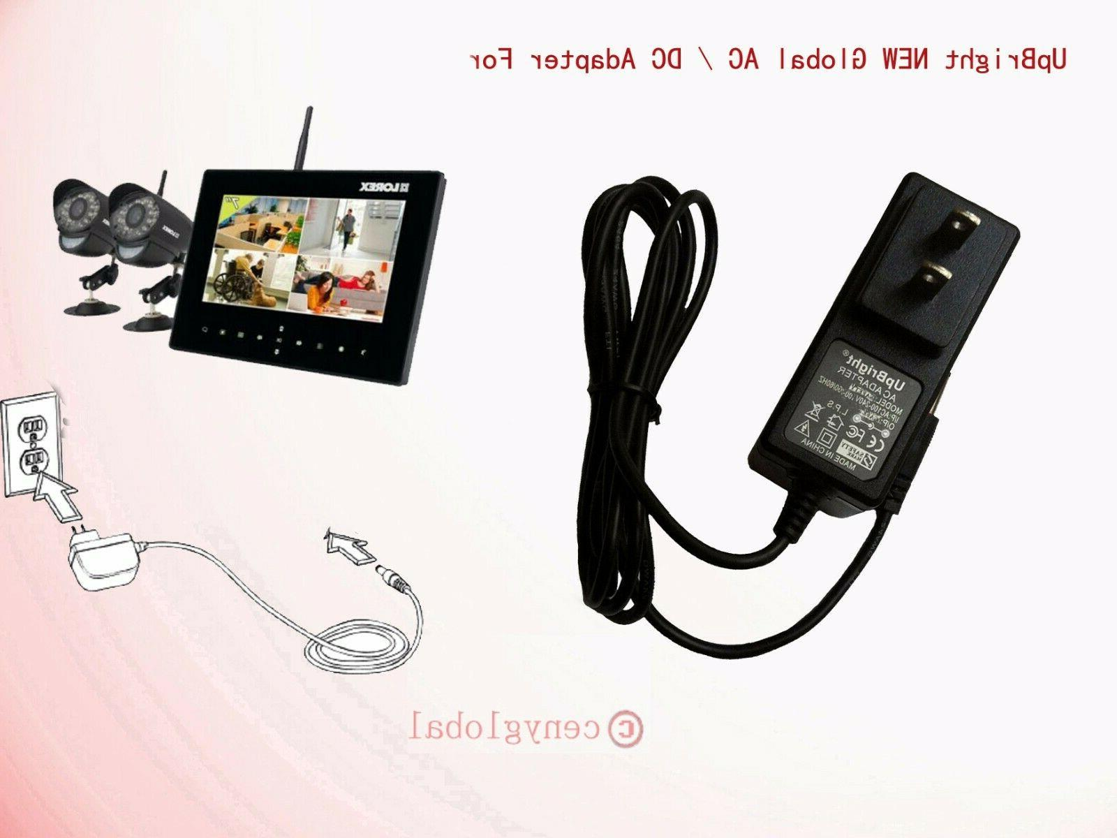 Globa AC Adapter For Lorex LIVE Wireless Video Monitoring Sy