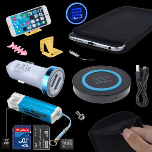 Accessory Bundle QI Wireless Charger Card Reader Sleeve Case