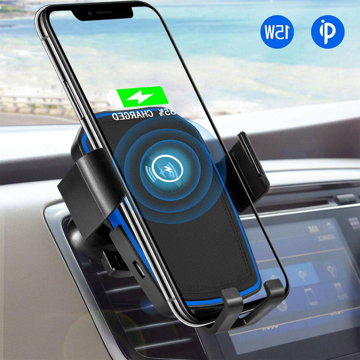 auto clamp gravity wireless car charger fast