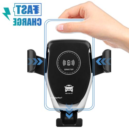 automatic clamping wireless car charger fast charging