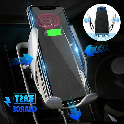Automatic Clamping Wireless Car Charger Mount For iPhone X 8