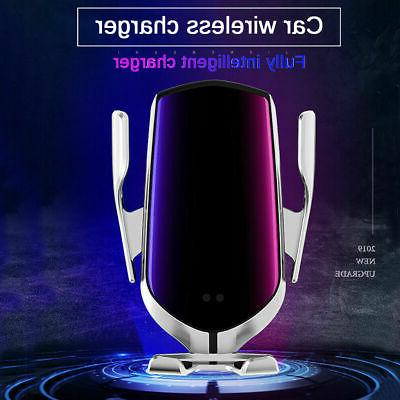 Automatic Clamping Smart Sensor Car Air Vent Wireless Charger Rack