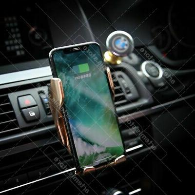 Automatic Clamping Sensor Car Phone and Fast Charger