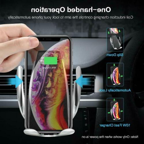 Automatic Sensor Qi Charger Car Holder for