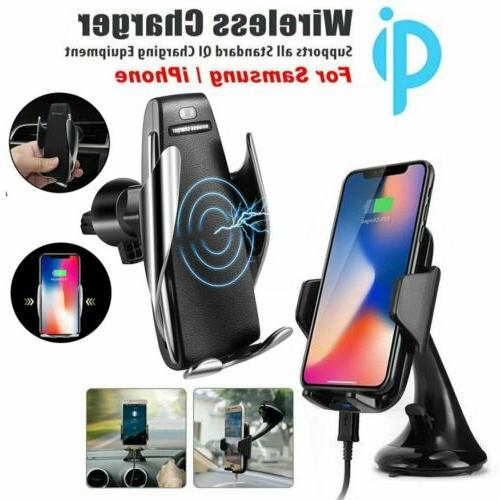 automatic sensor qi wireless charger car mount