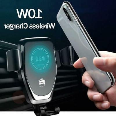 baseus car mount qi wireless charger quick